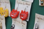Jewelry is a popular category at the street fair. These kitten earrings are purrfect.