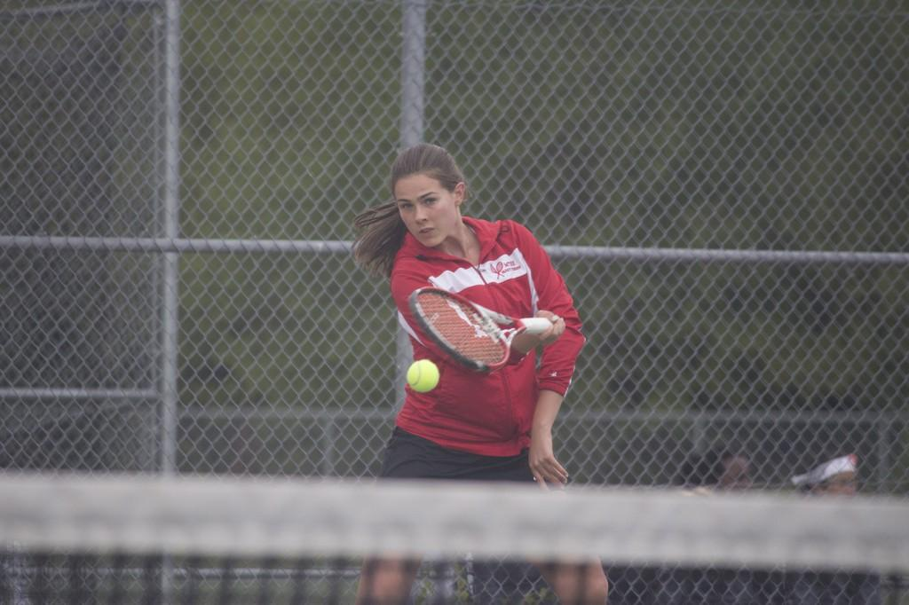 Three from women's tennis compete at state, two place sixth