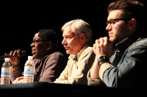 Jannon Roque | Hawkeye Terrace Idol second rounf judges: (from left to right): Wanz, Frank Blosser, Mackenzie Thoms
