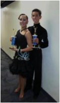 Maxine Taylor, an MTHS freshman, and her dance partner Scott Nicholson who is from Oregon.