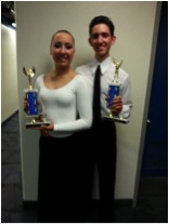 One of two first place trophies Taylor and Nicholson earned at the competition in Utah.