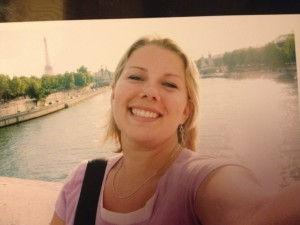 Andrea Collins on her 2004 trip to Europe.