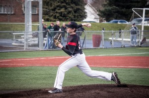 Junior Jesse Prothero proved to be key to the Hawks' defense, with a tremendous pitching performance against Edmonds Woodway HS on March 25.